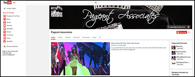 Pageant Associates on YouTube